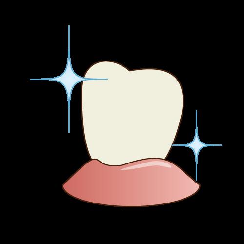 予防処置の副次的効果-本来の歯の白さが蘇ります!!